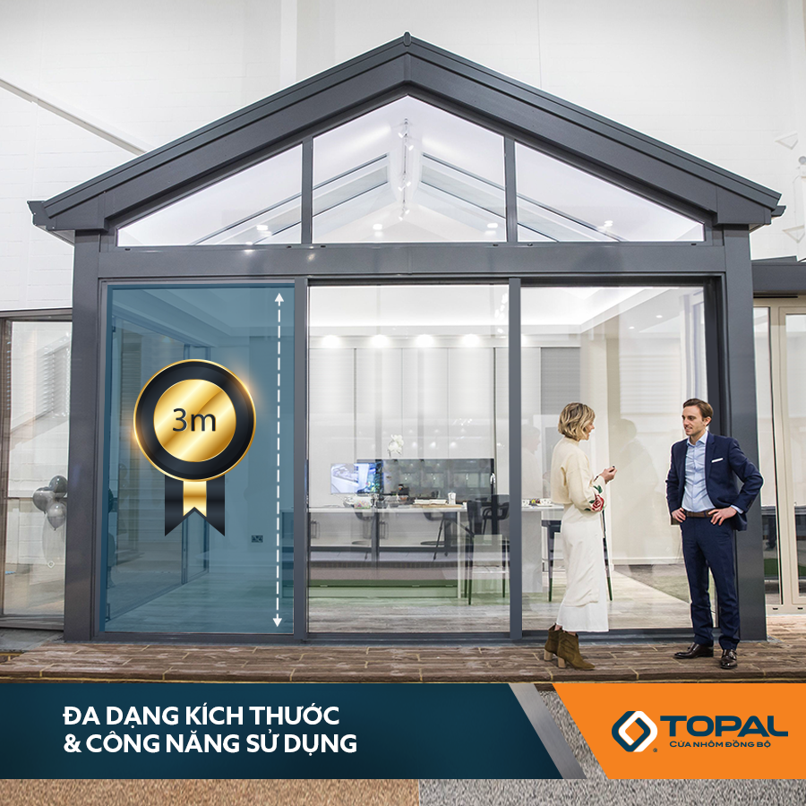Cửa đi trượt Topal Prima Austdoor 1.999.000vnđ/m2